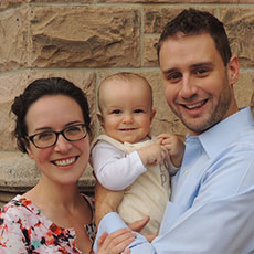 Members of the month: David, Angela and Everett Seals