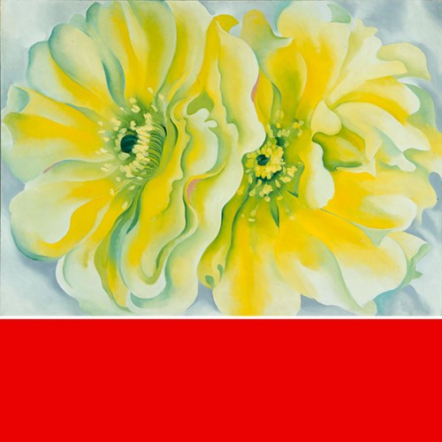 Top left image: Georgia O'Keeffe, (1887–1986), Yellow Cactus, 1929. Oil on canvas, 30×42 in. Dallas Museum of Art, Texas. Patsy Lucy Griffith Collection Bequest of Patsy Lucy Griffith. 1998.217. (O'Keeffe 675) © Copyright 2015 Georgia O'Keeffe Museum. Courtesy International Arts®. Organized by Joseph S. Czestochowski. Produced by International Arts®. Curated by Charles C. Eldredge.