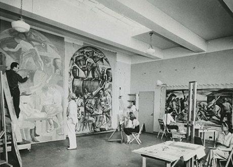 Mural Class ca 1935
