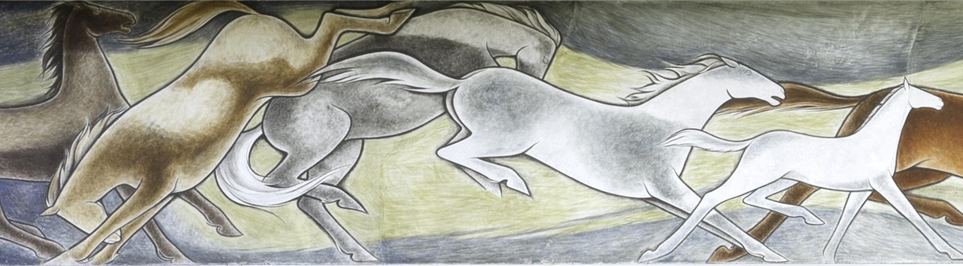 Frank Mechau Wild Horses