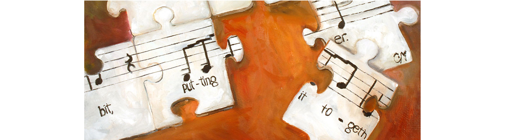 Putting It Together title graphic with puzzle pieces and musical notes
