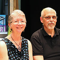Members of the moth: Frank J. and Paula Loccisano