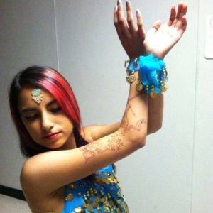 AJ loves Bollywood dancing