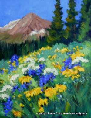 'Summer Meadow', one of Laura's paintings purchased for the film