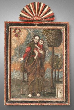 Retablo of St. Joseph with Christ child, TM 1560