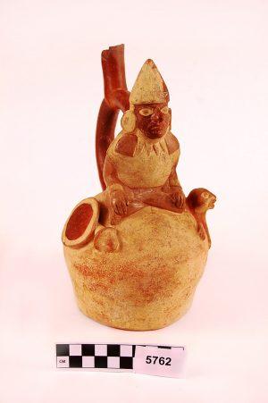 Moche pottery jug