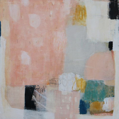 Abstract painting with mostly pastel colors