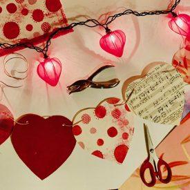 Heart garland craft