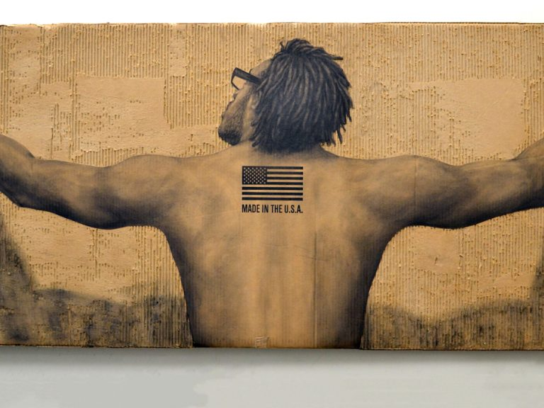 Drawing of a black man by Dareese Walker, Made in the U.S.A.
