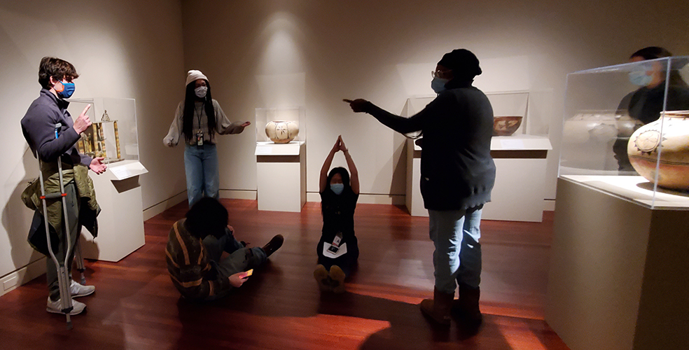 Winter Start students reinterpret artworks in our gallery spaces during night at the museum