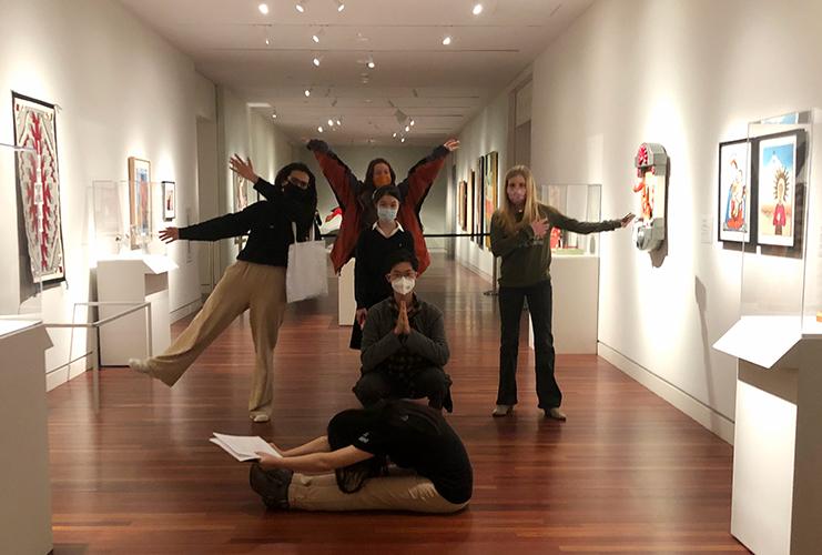 Winter Start students reinterpret artworks in our gallery spaces.