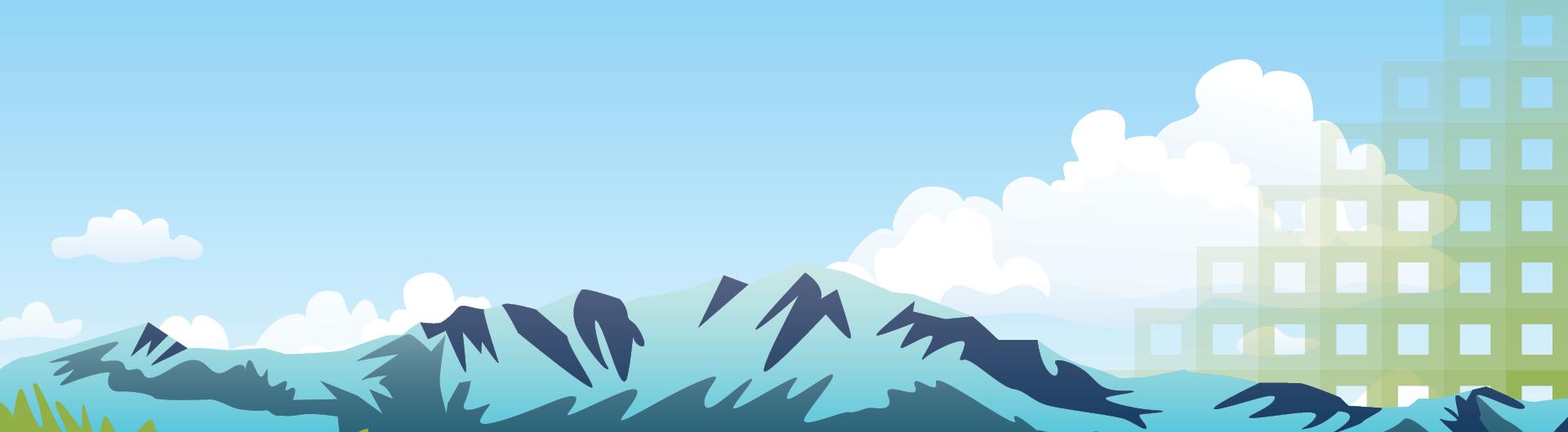 Front Range Fables - pikes peak illustration