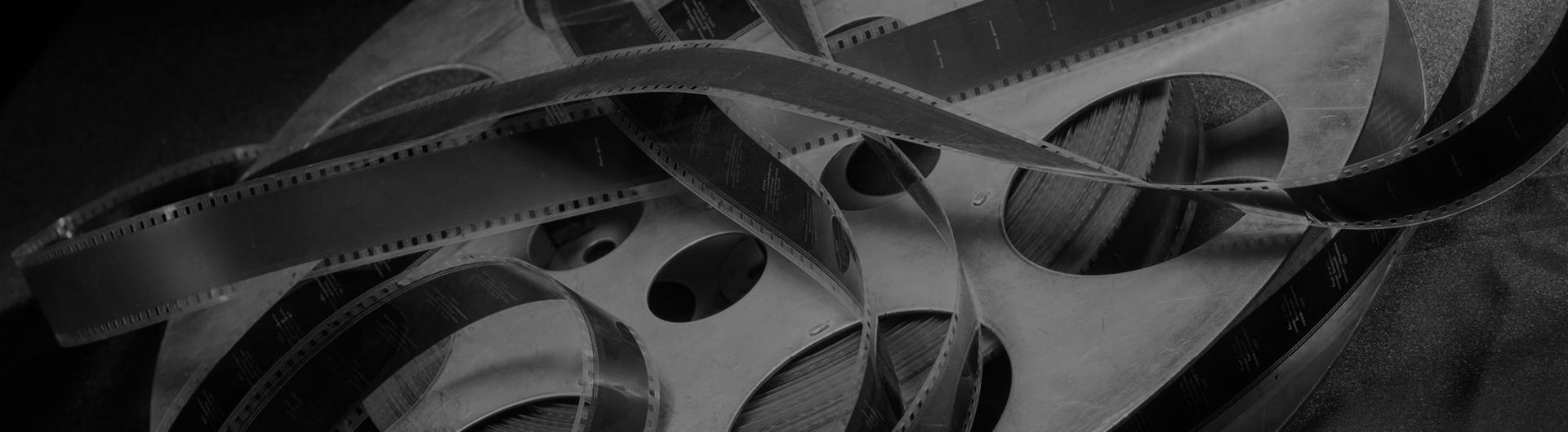 Black and white film reel