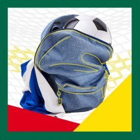 Backpack with soccer ball